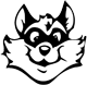 Rose Hill Elementary logo: raccoon